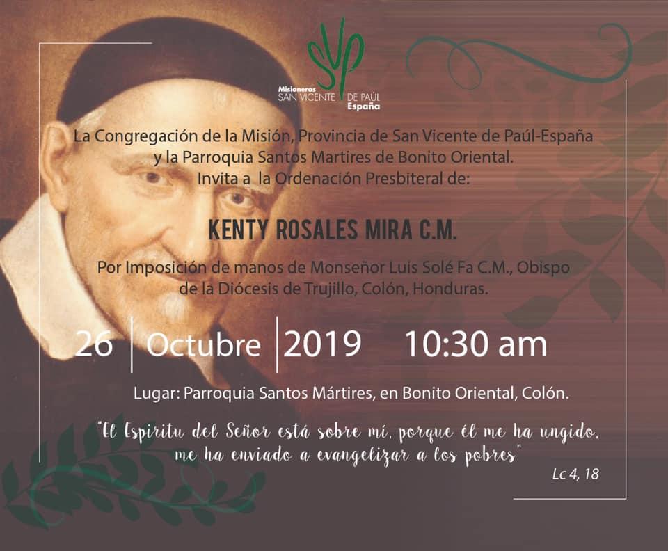 INVITACIÓN A LA ORDENACIÓN